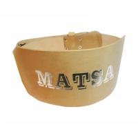 Пояс Matsa кожа широкий коричневый, XXL